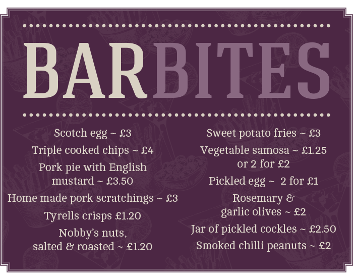Bar Bites at The Littleton Arms