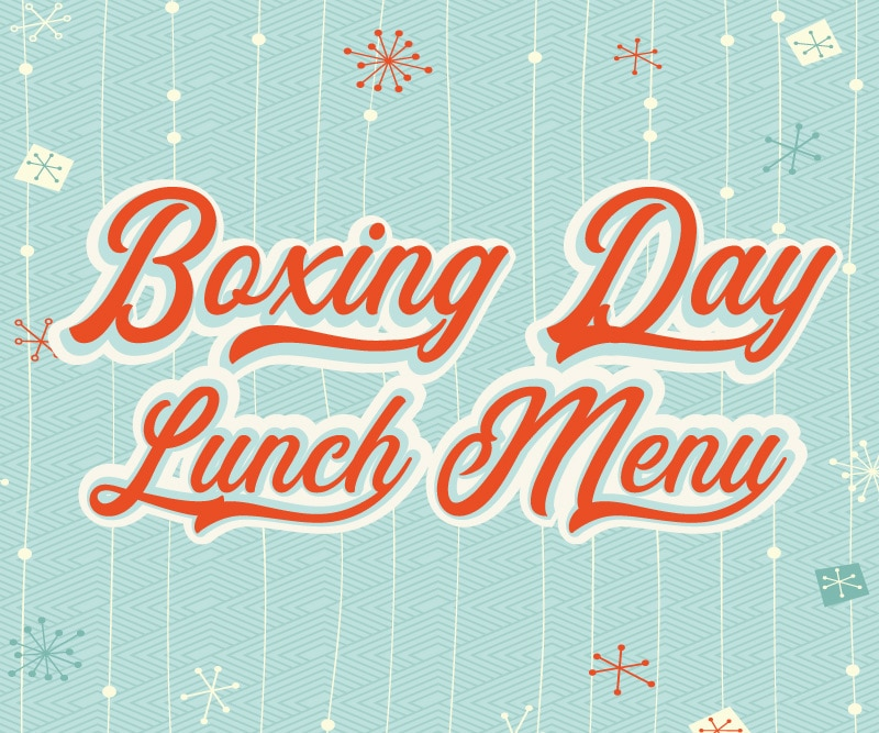 The Littleton Arms Boxing Day Lunch Menu